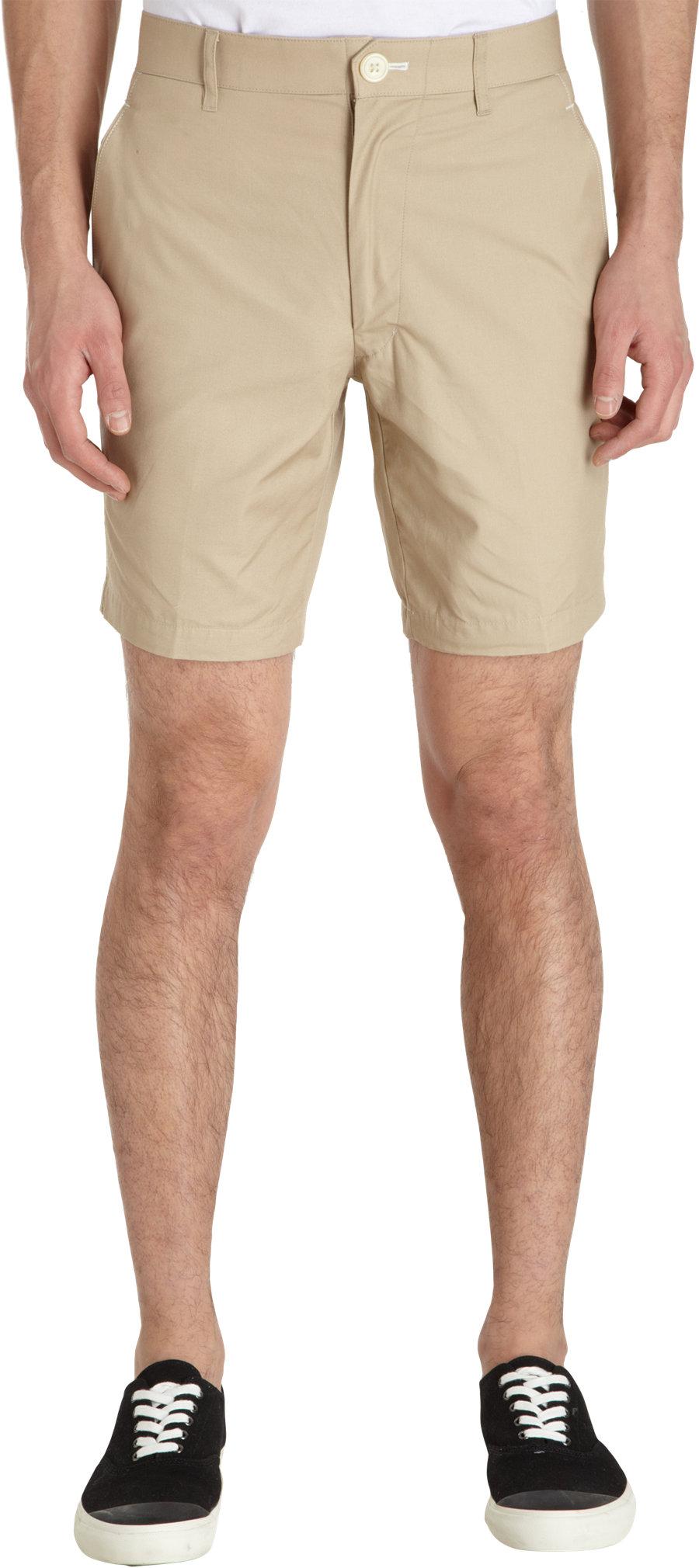 Thom grey Khaki Shorts in Natural for Men   Lyst