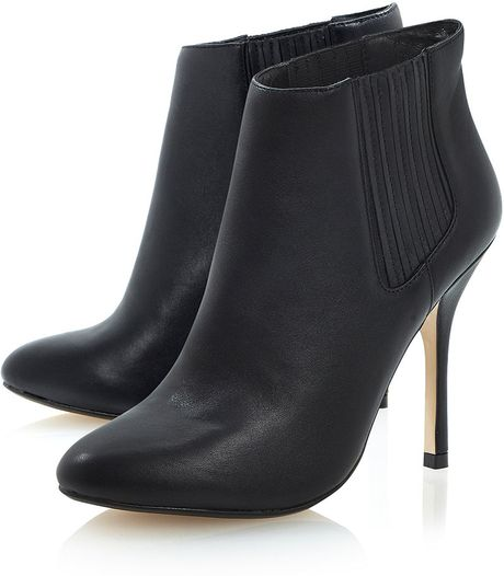 topshop neesh high heel chelsea ankle boots by dune in