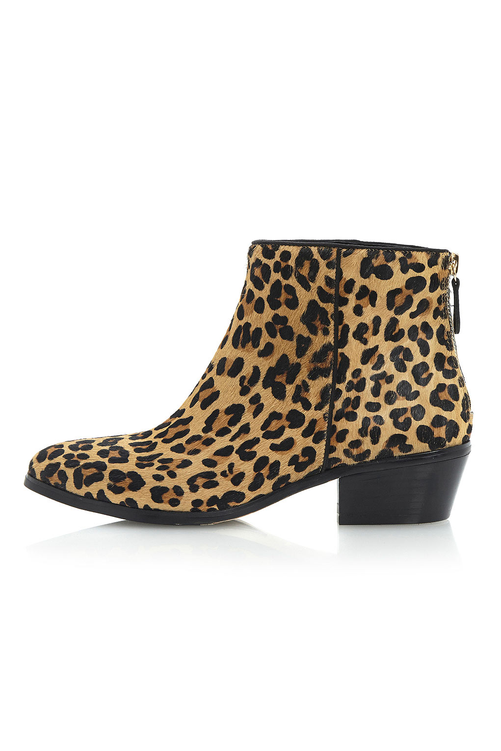 topshop peopard pony leopard print ankle boots by dune in