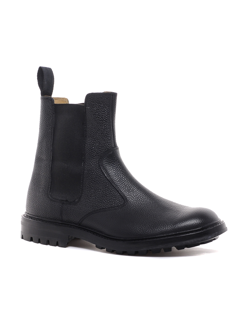 tricker s chelsea boots in black for lyst