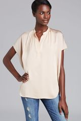Vince Blouse Silk Placket - Lyst