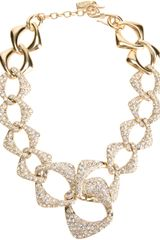 Yves Saint Laurent Vintage Crystal Encrusted Necklace - Lyst