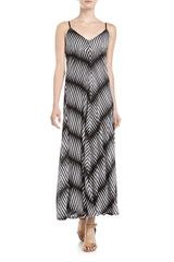 Alberto Makali Striped Knit Maxi Dress Blackwhite - Lyst