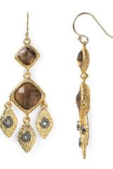 Alexis Bittar Smoky Quartz Crystal Earrings - Lyst
