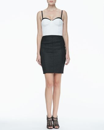 Alice + Olivia Jasmyn Twotone Bustier Dress - Lyst