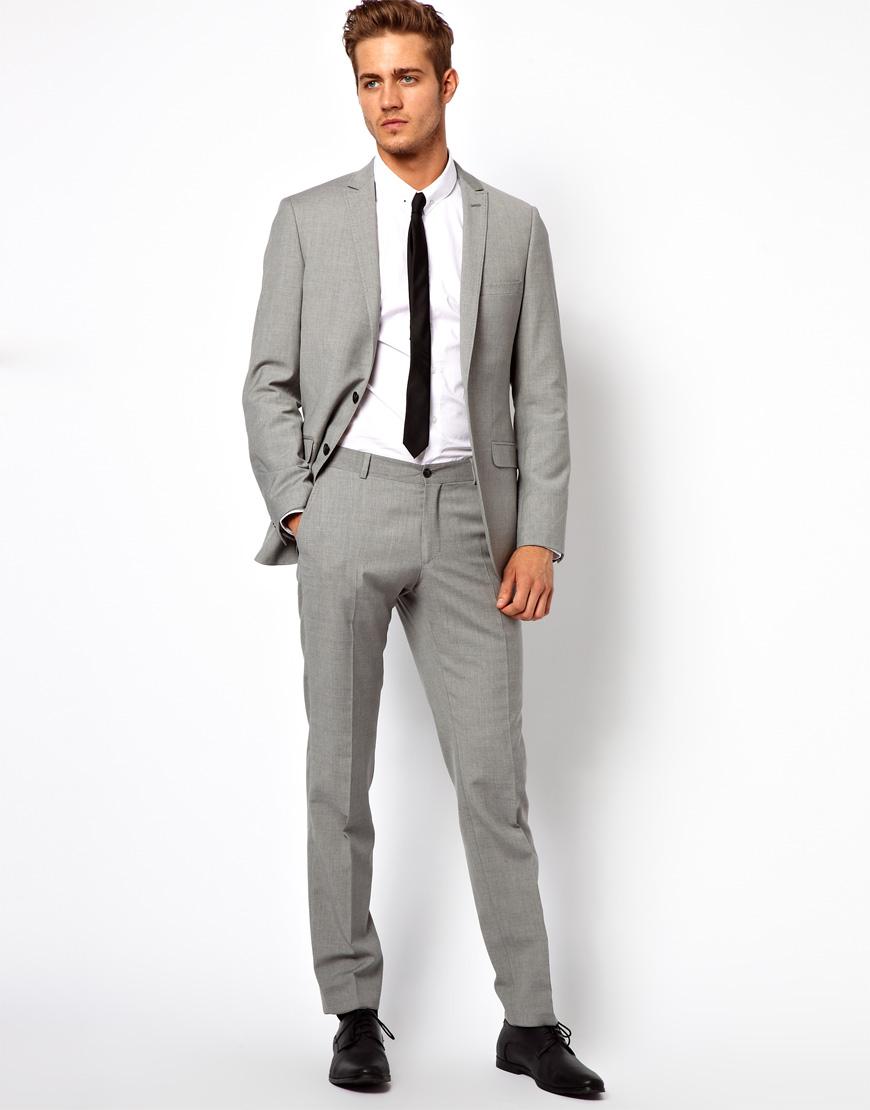 G Star Raw Esprit Slim Fit Suit Pants In Gray For Men Lyst