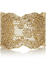 Aurelie Bidermann Goldplated Lace Cuff - Lyst