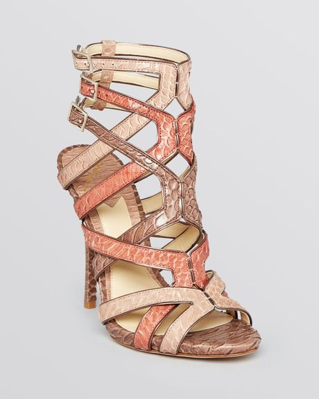 B Brian Atwood Sandals Carbinia High Heel in Pink (Bronze Multi) - Lyst