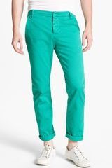 Band Of Outsiders Slim Fit Twill Chinos - Lyst