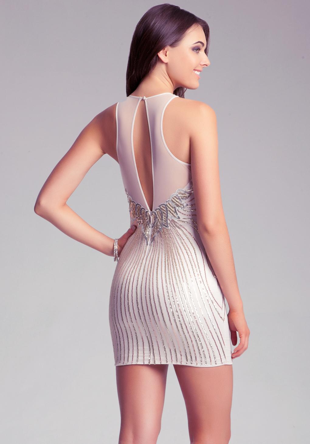 Lyst Bebe Sequin Embellished Dress In Metallic