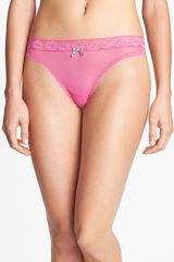 Betsey Johnson Hot Lips Thong - Lyst