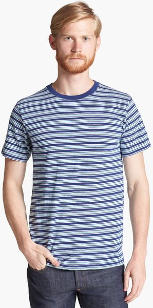 Billy Reid Florence Stripe Crewneck T-Shirt - Lyst
