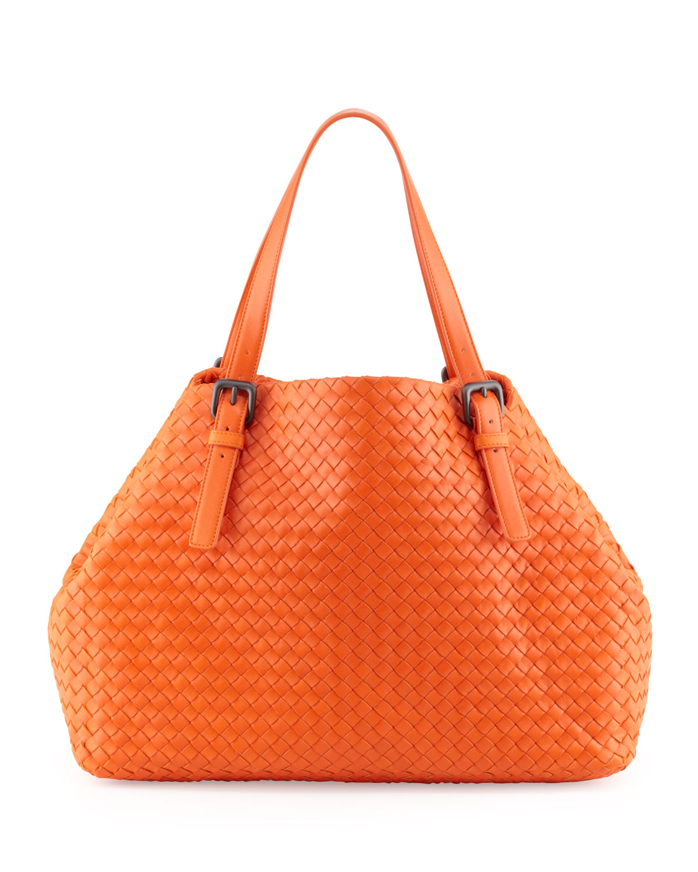 Bottega Veneta Orange Ashape Large Tote Bag Tangerine
