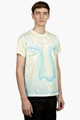 Christopher Kane Mens White Digital Face Tshirt - Lyst