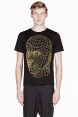 Christopher Kane Yellow Big Face Digital Printed T_shirt - Lyst