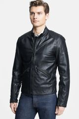 Dolce & Gabbana Leather Moto Jacket - Lyst