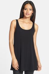 Eileen Fisher Scoop Neck Silk Tunic - Lyst