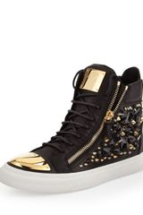 Giuseppe Zanotti Jeweled Hi-Top Sneaker Black - Lyst