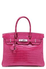Heritage Auctions Special Collections 30cm Shiny Fuschia Porosus Crocodile Hermes Birkin - Lyst