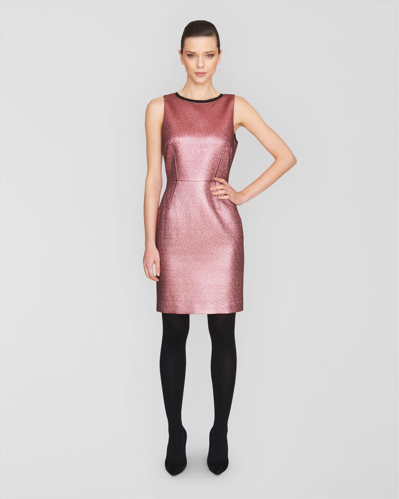 pink metallic dress cocktail dresses 2016