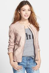 Live A Little Quilted Faux Leather Jacket - Lyst