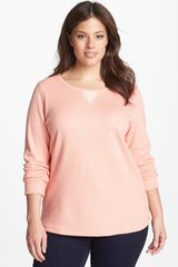 Lucky Brand Marled Cotton Blend Pullover - Lyst