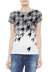Marc By Marc Jacobs Flocked Houndstooth Tee - Lyst