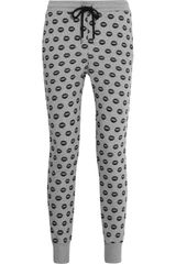 Markus Lupfer Smacker Lipprint Cotton Track Pants - Lyst