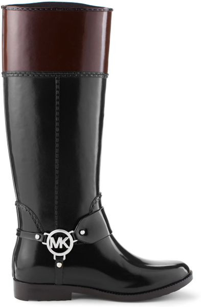 Michael Kors Michael Fulton Harness Tall Rainboot In Black