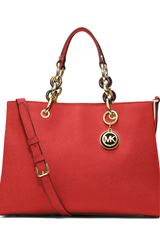 Michael Kors Michael Medium Cynthia Satchel - Lyst