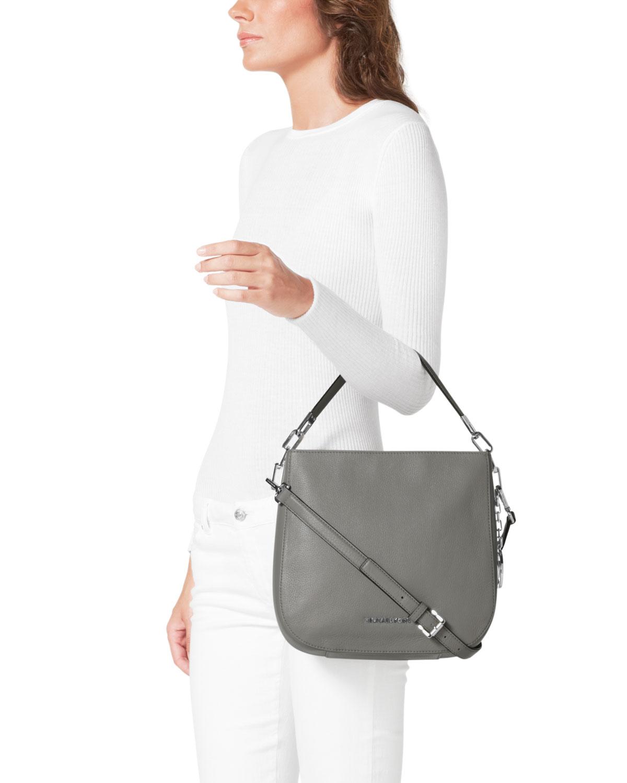 25c9504058ac Lyst - Michael Kors Michael Medium Brooke Shoulder Bag in Gray
