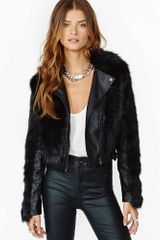 Nasty Gal Unruly Faux Leather Moto Jacket - Lyst