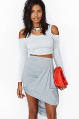 Nasty Gal Swoop Skirt - Lyst