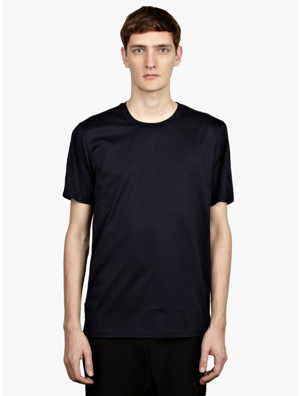 Nike nsw white label mens navy blue taped tshirt in blue for Navy blue and white nike shirt