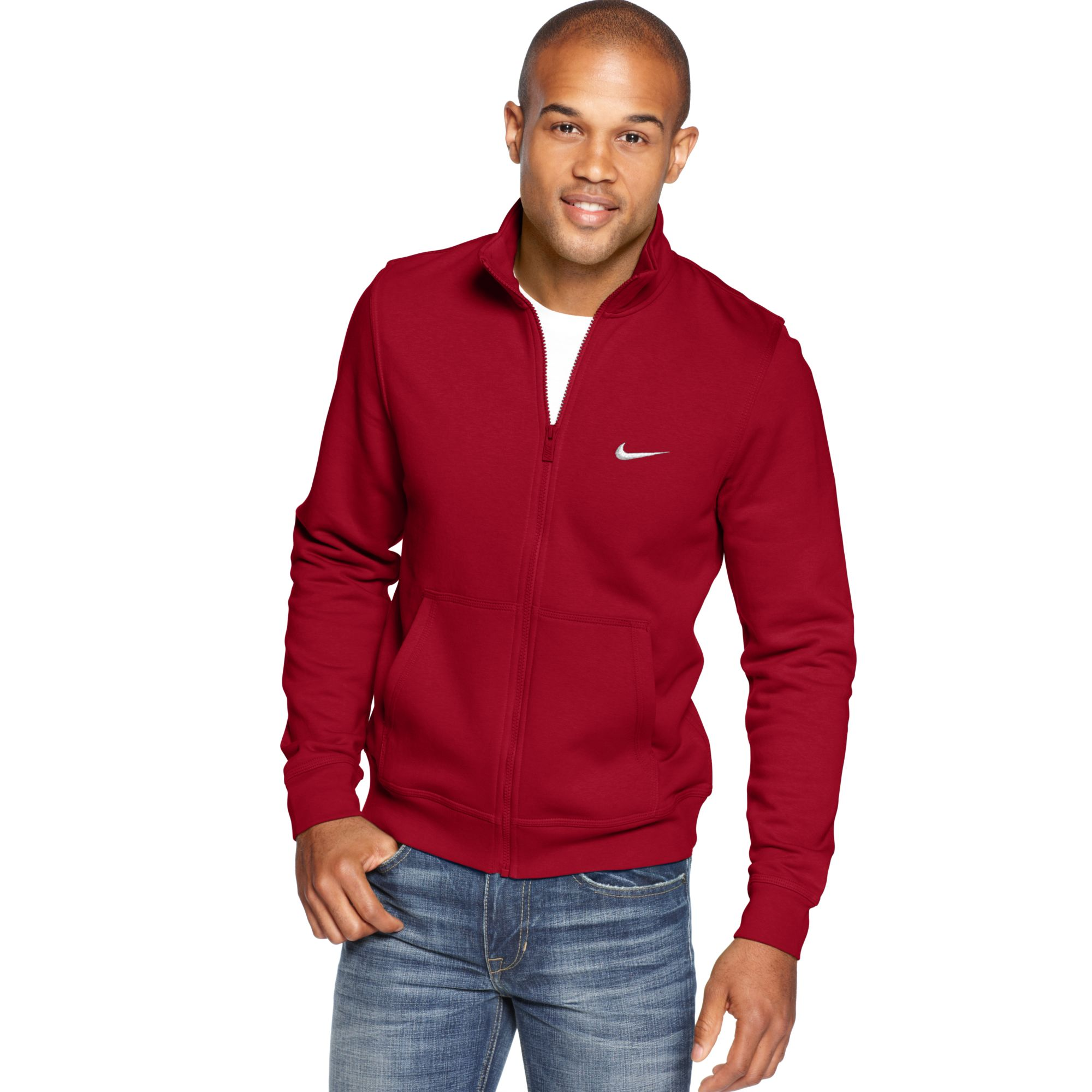 b04a76509d0e Red Red Track Nike Jacket For For Men In Fleece Lyst Club qCzgY