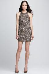 Parker Audrey Sequined Halter Dress - Lyst