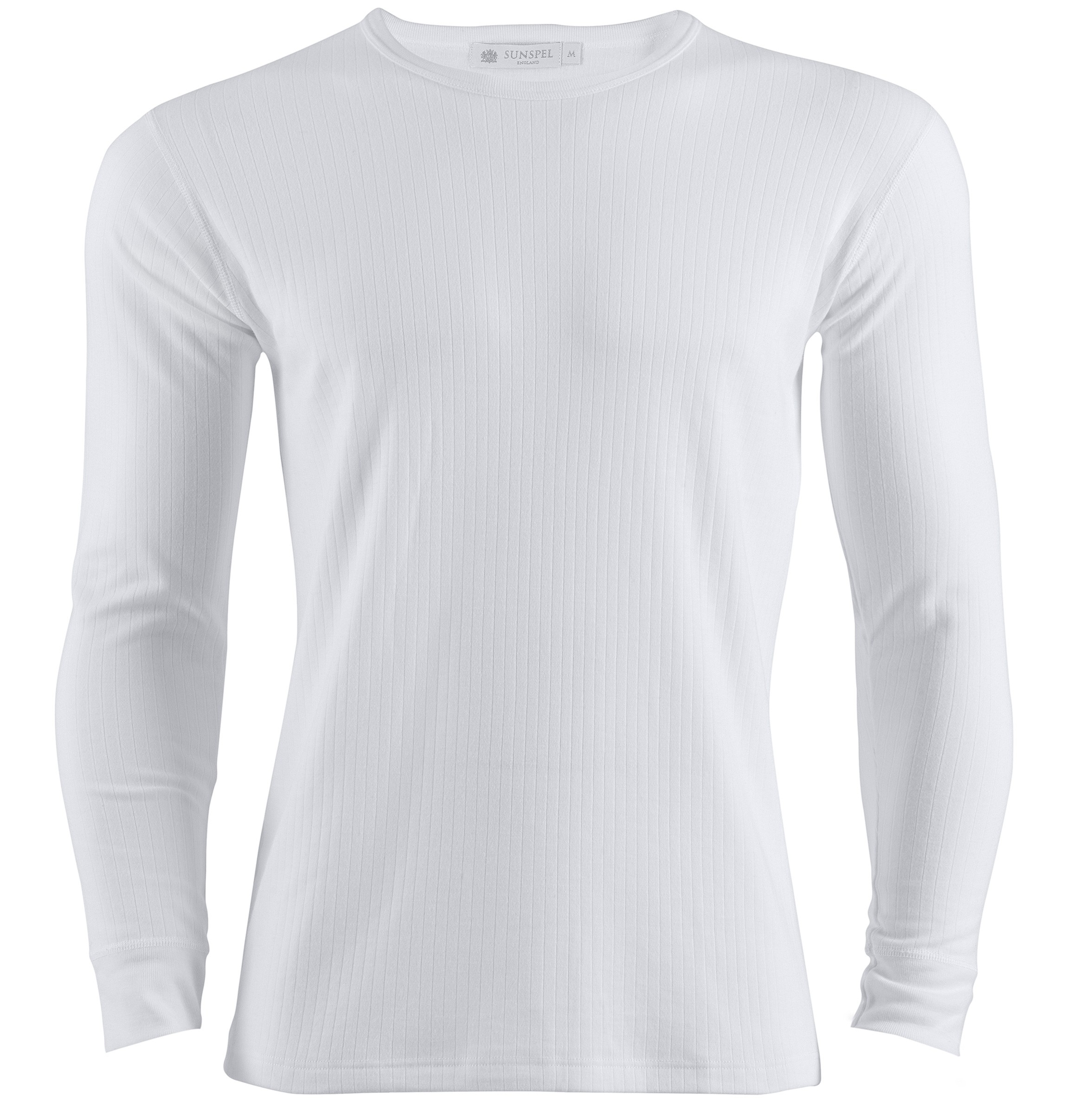 Sunspel long sleeve thermal t shirt in white for men lyst for Mens long sleeve white t shirt