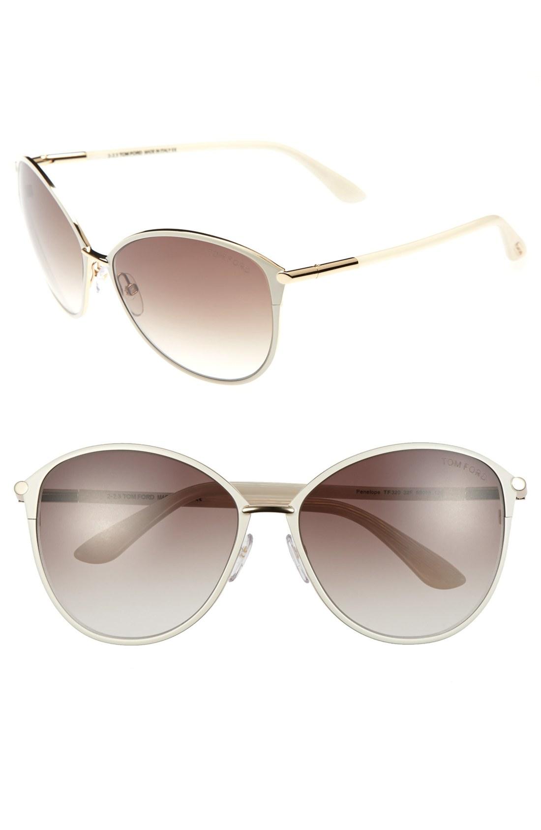 tom ford 39 penelope 39 59mm sunglasses shiny rose gold. Black Bedroom Furniture Sets. Home Design Ideas