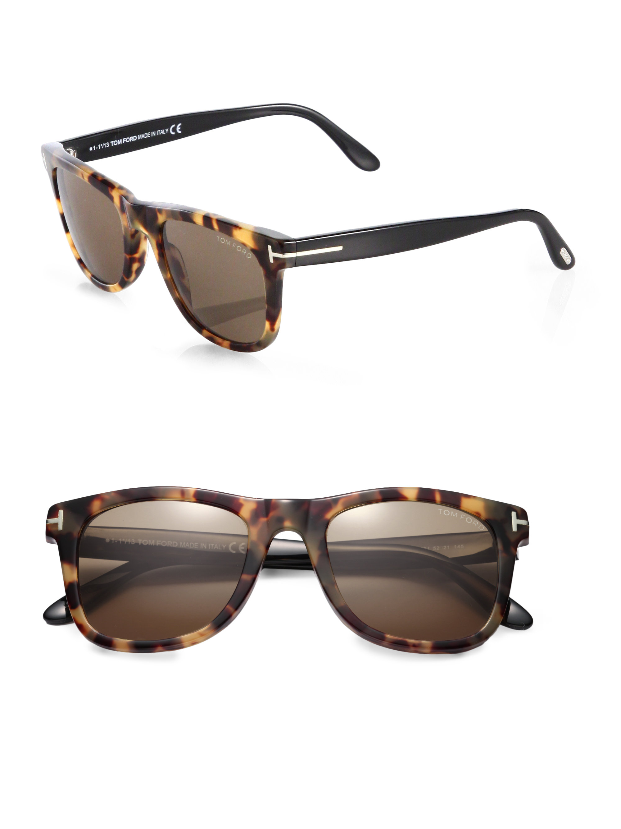 bfcff77465 Tom Ford Leo Oversized Square Sunglasses - Lyst