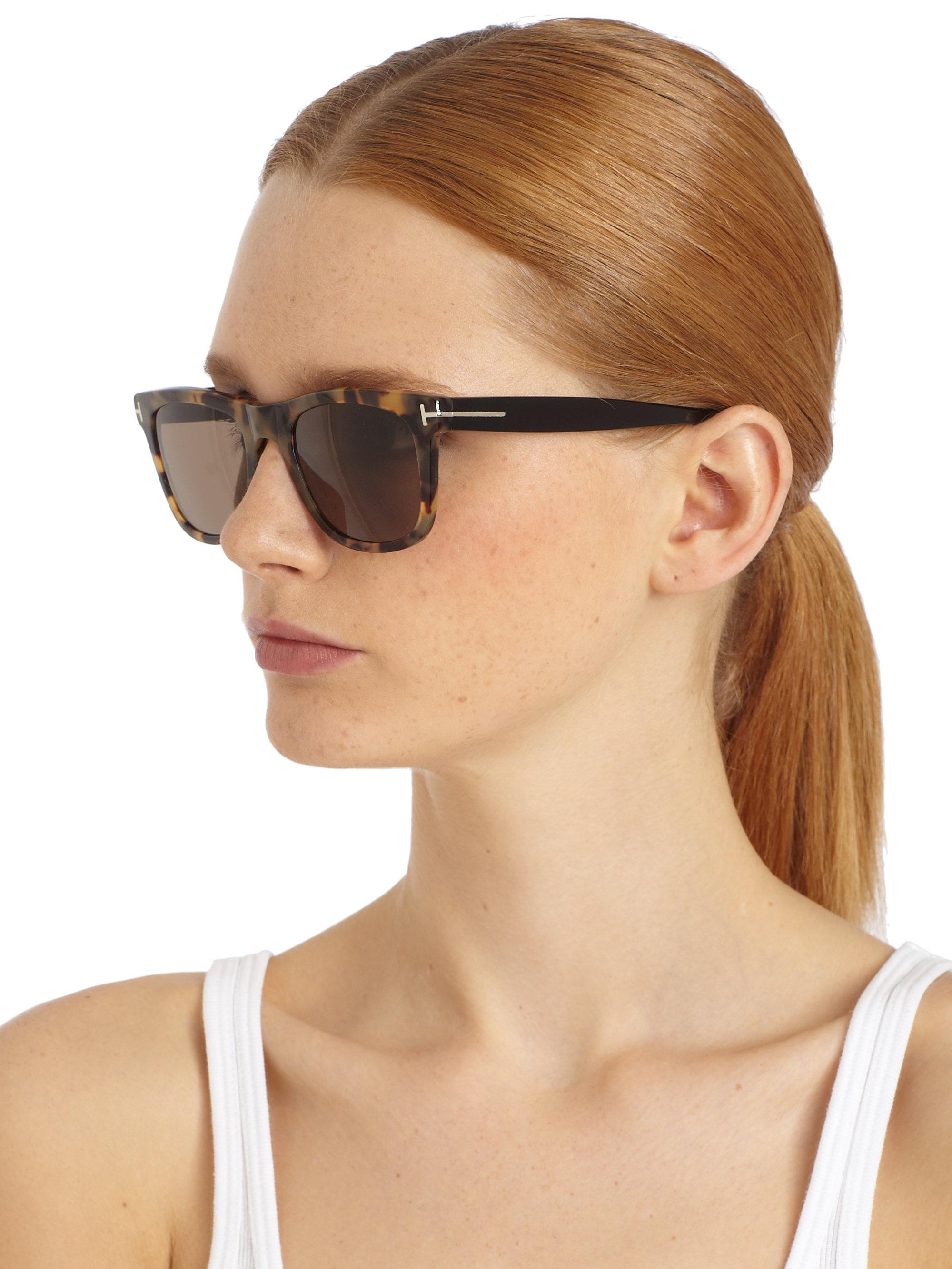 Gallery  sc 1 st  Lyst & Tom ford Leo Oversized Square Sunglasses | Lyst markmcfarlin.com