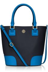 Tory Burch Robinson Colorblock Bucket Bag - Lyst