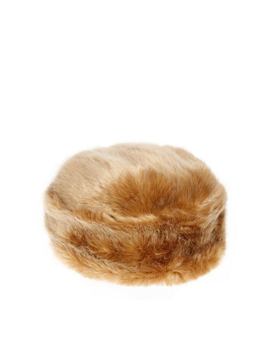 b47f374f542dd Lyst - ASOS Ted Baker Karah Faux Fur Cossack Hat in Brown