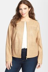 Bernardo Perforated Leather Jacket - Lyst