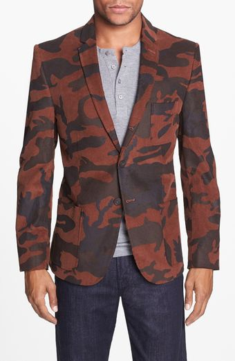 Dockers Camo Print Cotton Threebutton Blazer - Lyst