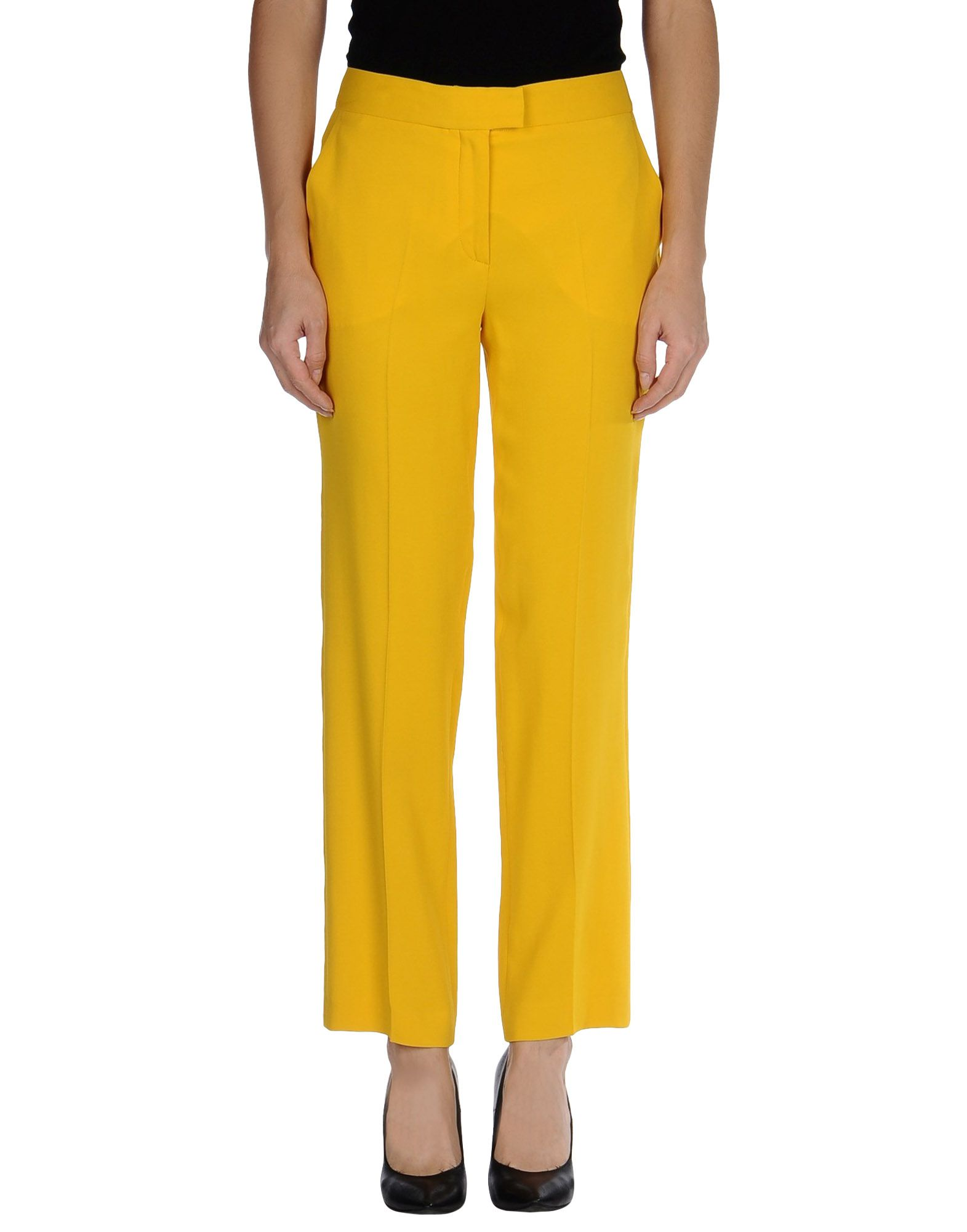 Original Womens Yellow Casual Summer Pants Ladies Slim Fit Jeans Style Trousers