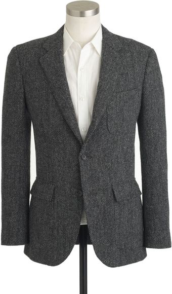 J.Crew Ludlow Suit Jacket in Harris Tweed Herringbone Wool - Lyst