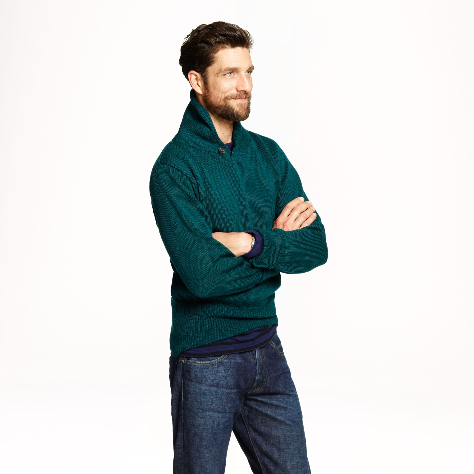 Lyst j crew north sea clothing expedition sweater in for J crew mens outfits