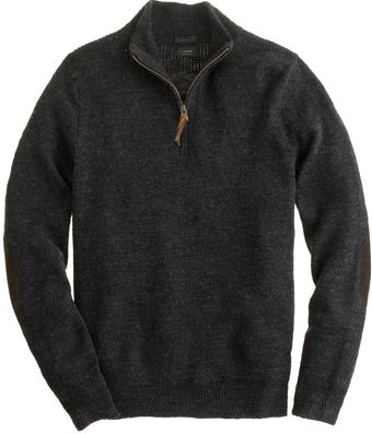 J.Crew Slim Rustic Merino Elbow Patch Halfzip Sweater - Lyst