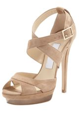 Jimmy Choo Kayak Crisscross Platform Sandal Neutral - Lyst