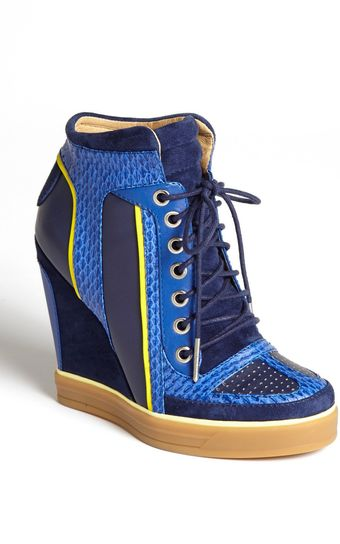 L.a.m.b. Summer High Top Wedge Sneaker - Lyst